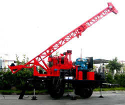 Trailer Mounted Spindle Core Drilling Rig